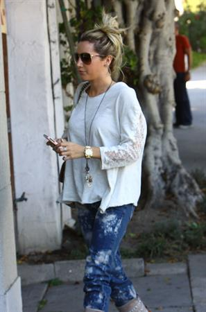 Ashley Tisdale Nine Zero One hair salon in West Hollywood 10/27/12