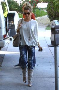 Ashley Tisdale Nine Zero One hair salon in West Hollywood 10/27/12