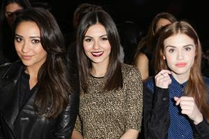 Victoria Justice DKNY Women during Fall 2013 Mercedes-Benz Fashion Week in NY 2/10/13