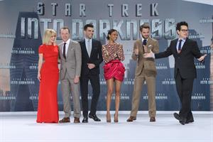 Zoe Saldana Star Trek Into Darkness' Premiere on April 29, 2013