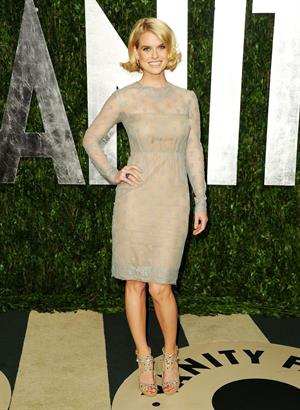 Alice Eve attends the 2012 Vanity Fair Oscar party in West Hollywood on February 26, 2012