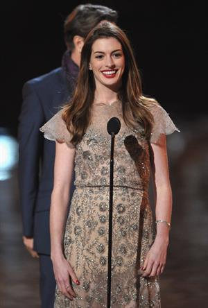 Anne Hathaway Spike TVs Scream 2011 Awards in Universal City California on October 15, 2011