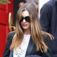 Anne Hathaway leaving a friends house in Beverly Hills on January 20, 2012