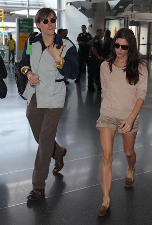 Ashley Greene at JFK Airport in New York on June 12, 2012