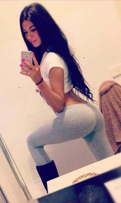 Anonymous in Yoga Pants taking a selfie