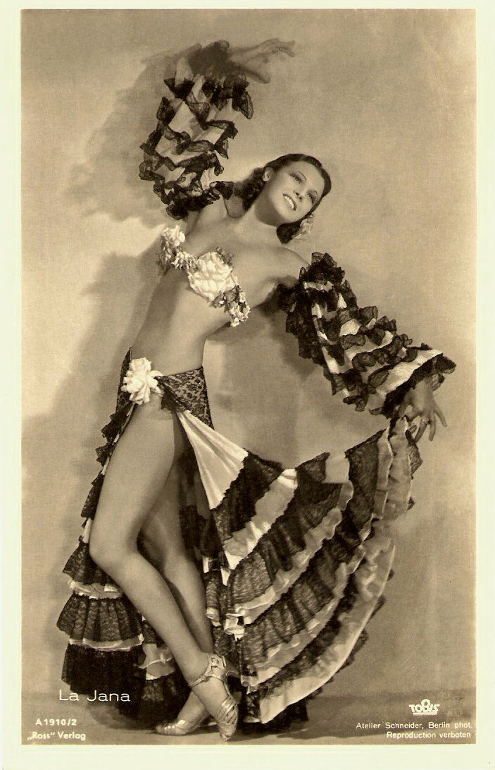 La Jana in a bikini