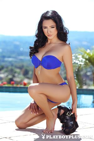 Poolside with Playboy Cybergirl Reyna Arriaga