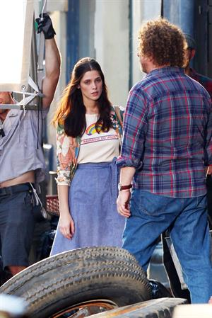 Ashley Greene on the set of CBGB in Savannah on July 2, 2012
