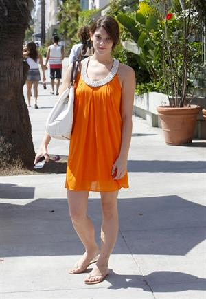 Ashley Greene at the Ivy Restaurant in Santa Monica on July 28, 2009