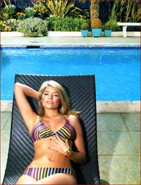 Holly Willoughby in a bikini