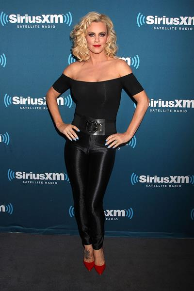 Jenny McCarthy as Sandy from Grease at her Sirius XM Halloween costume party.