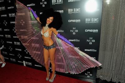 Nicole Trunfino in a skimpy Halloween costume