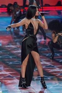 Selena Gomez performing at the 2015 Victoria's Secret Fashion Show
