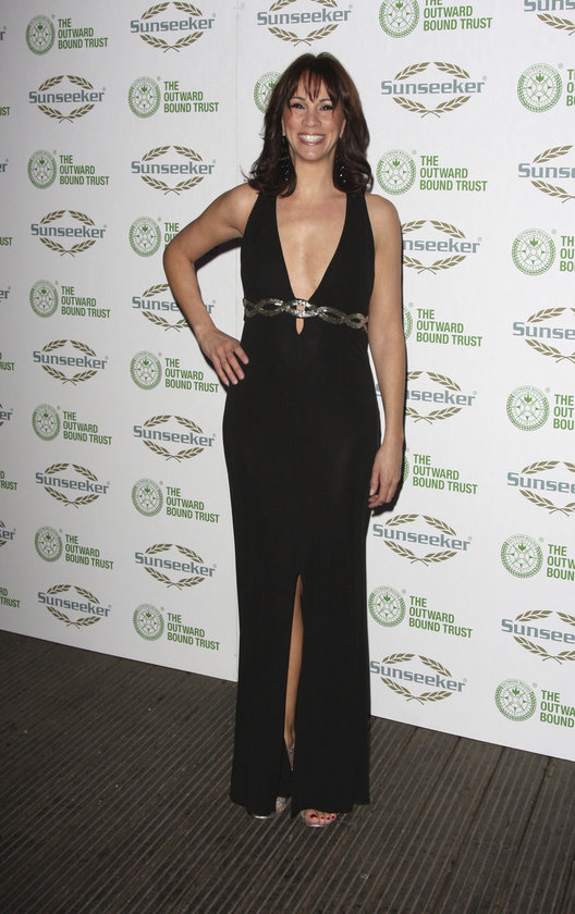 Andrea McLean a night with Robin Gibb on Jan 9, 2009