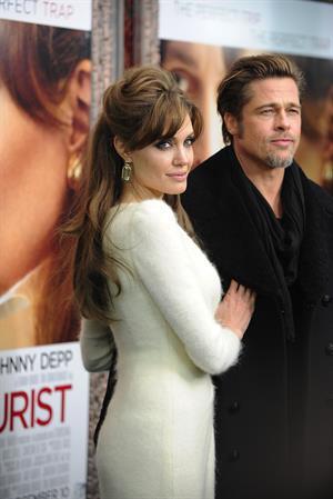 Angelina Jolie the Tourist world premiere in New York on December 6, 2010