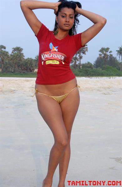 Terushka Venkataswamy in a bikini