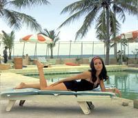 Claudine Auger in a bikini