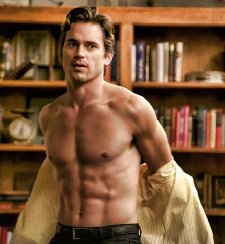 Matt Bomer shirtless, showing off his amazing abs