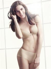 Hilary Rhoda in lingerie