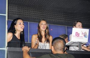 Alessandra Ambrosio parties at MYNT nightclub in Southbeach