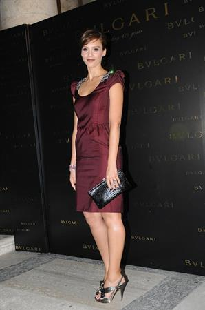 Jessica Alba opening of the Exhibition Between Eternity and History 1884 2009 in Rome Italy