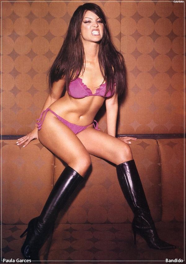 Paula Garces in lingerie
