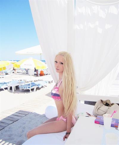 Valeria Lukyanova in a bikini