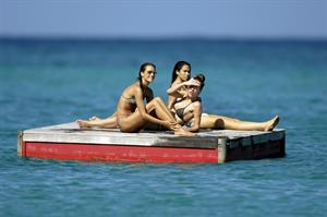 Alessandra Ambrosio Saint Barthelemy Candids on January 22, 2009