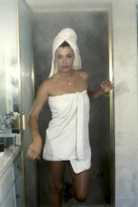 Kelly LeBrock getting out of the shower