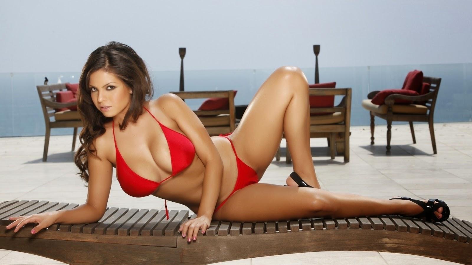 Anne Nicolazzo in a bikini