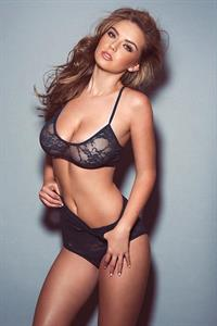 Lauren Hanley in lingerie