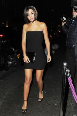 Frankie Sandford at the Freedom Bar in London 12/18/12