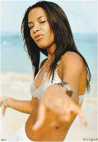 Aaliyah in a bikini