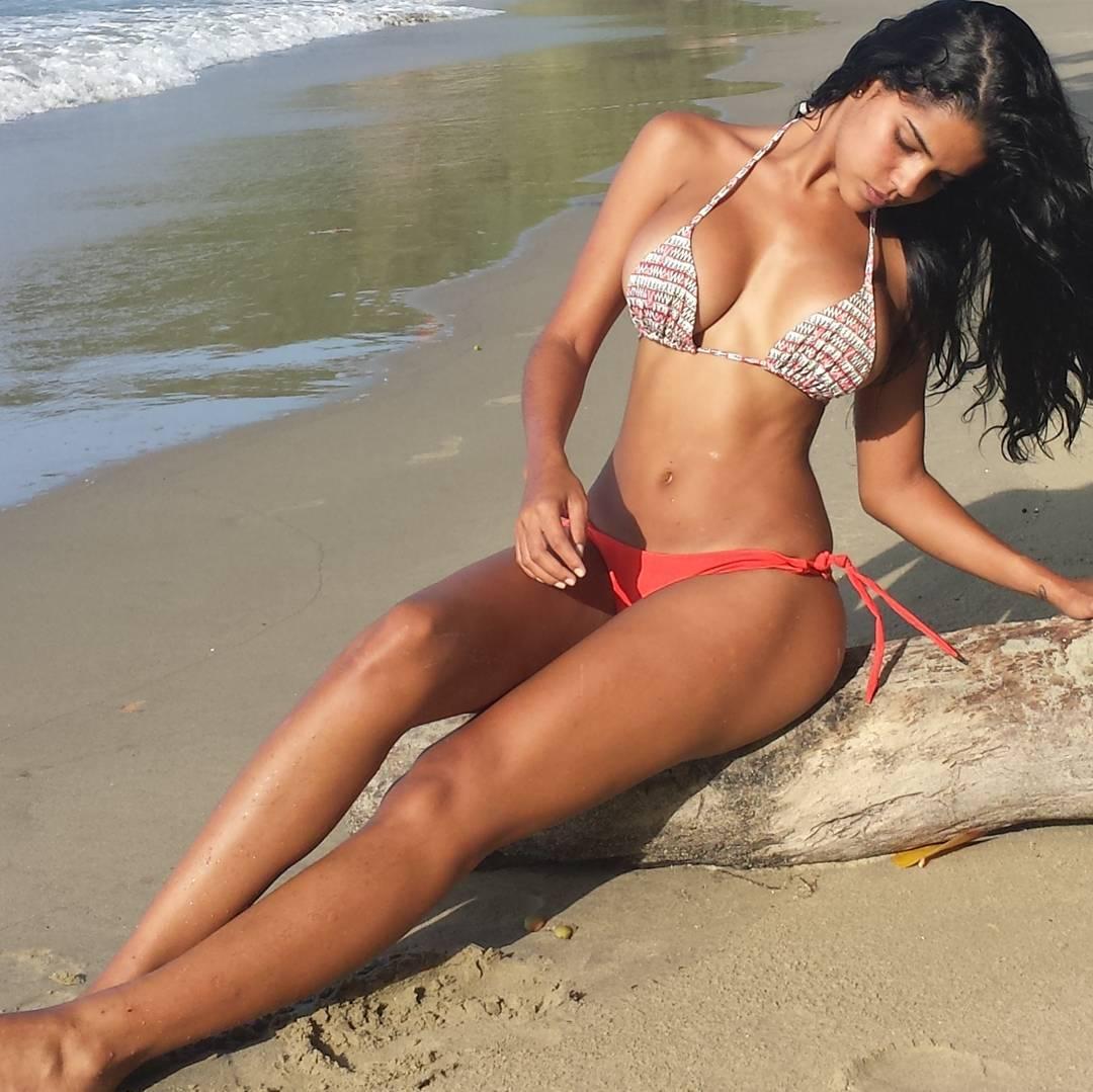 Daniela Baptista in a bikini
