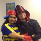 Me and my boyfriend on Halloween
