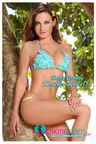 Heather Widle in a bikini