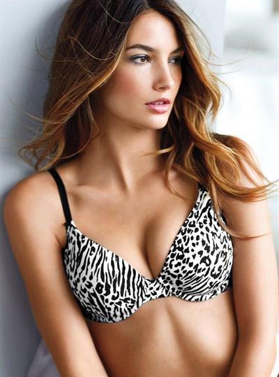 Lily Aldridge in lingerie