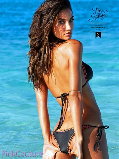 Lily Aldridge in a bikini - ass