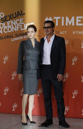 Angelina Jolie at the Global Summit To End Sexual Violence In Conflict June 13, 2014