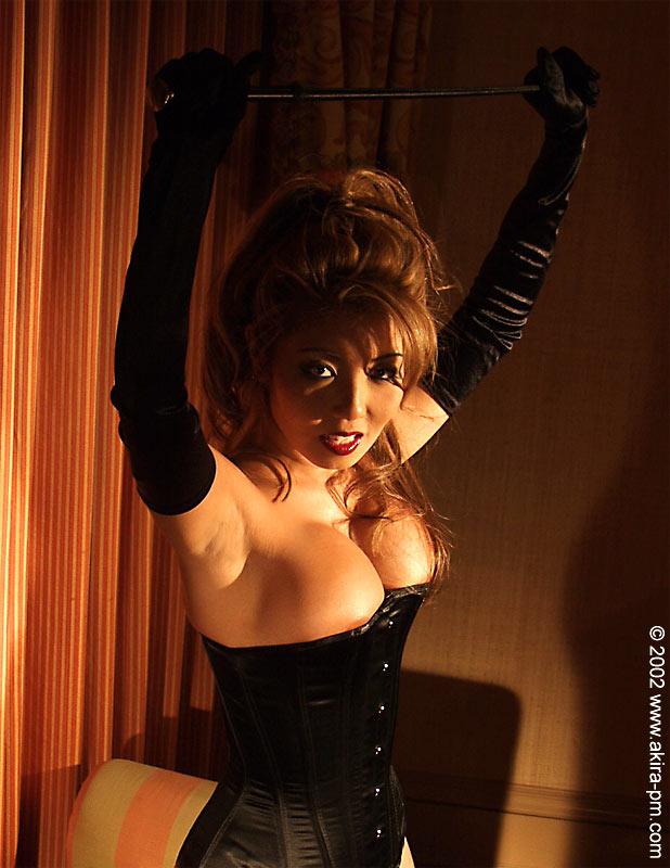Akira Lane in lingerie