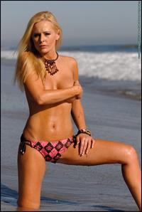 Katie Lohmann in a bikini