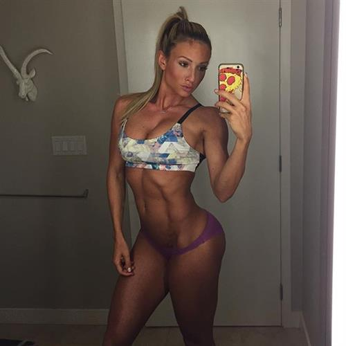 Paige Hathaway in a bikini taking a selfie