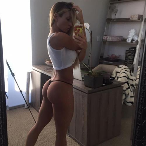Paige Hathaway taking a selfie and - ass