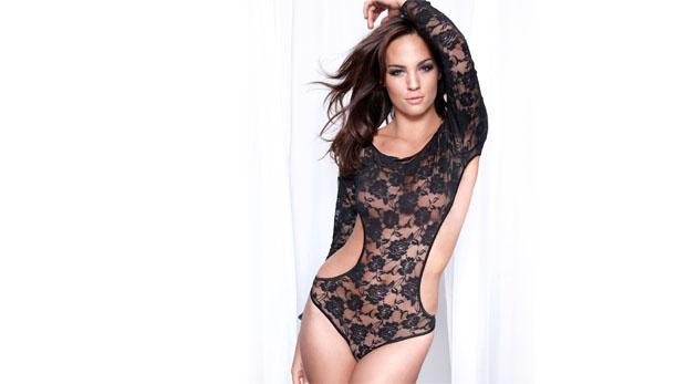 Andi Muise in lingerie