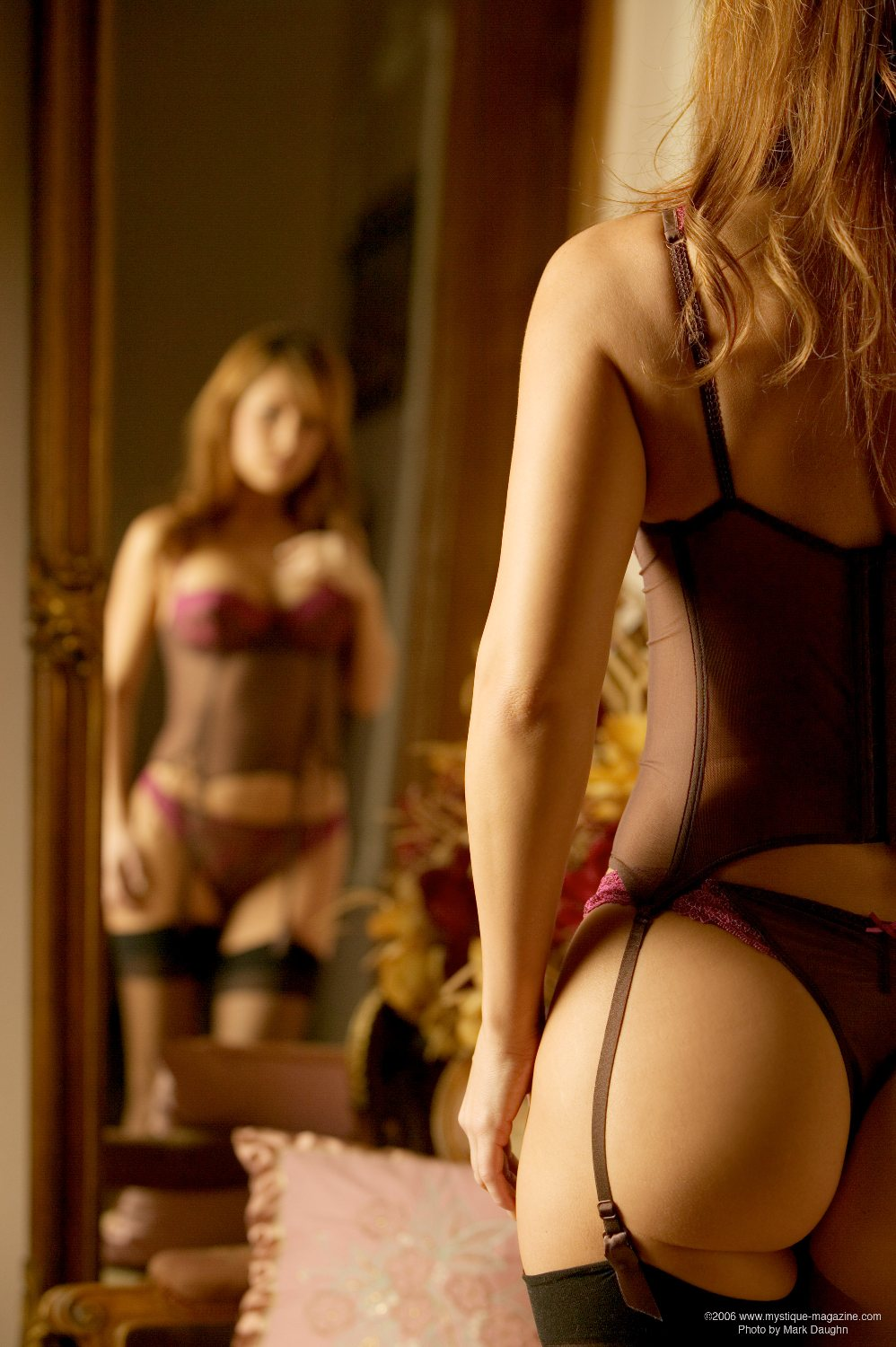 Valerie Baber in lingerie - ass
