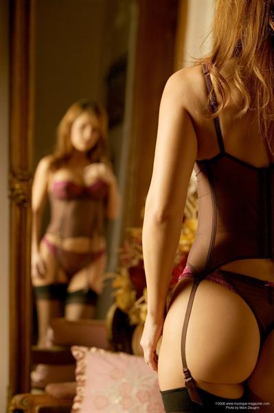 Valerie Baber in lingerie - ass