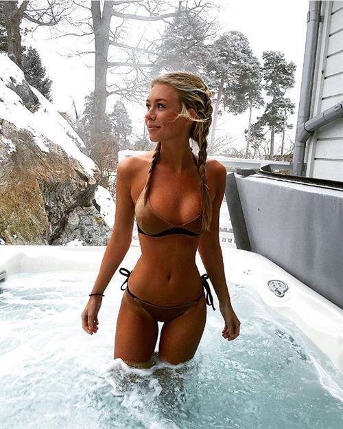 Maja Cramne in a bikini