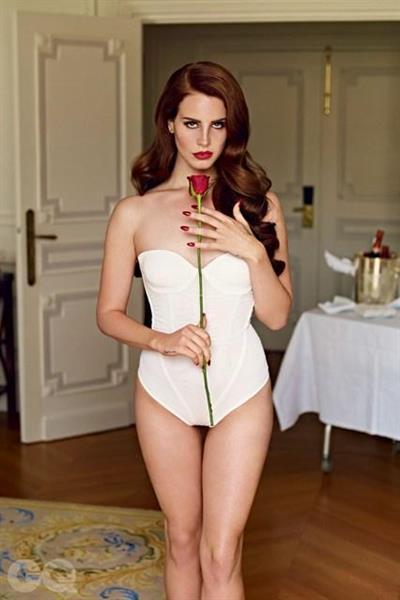 Lana Del Rey poses for British GQ Magazine
