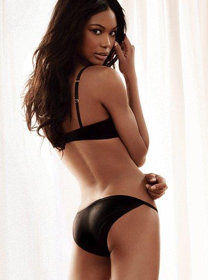 Chanel Iman in lingerie - ass