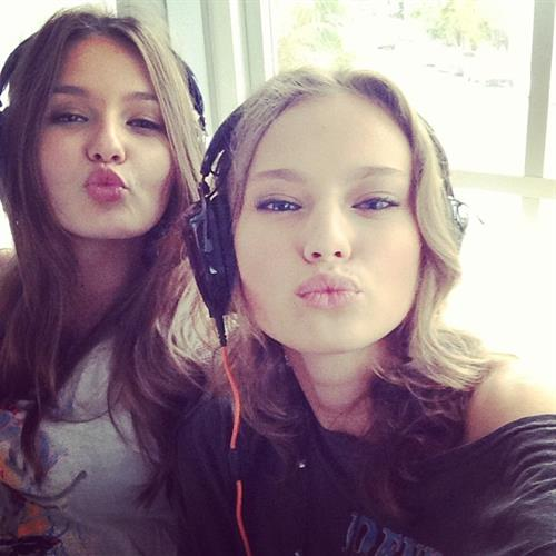 Kristina Romanova taking a selfie